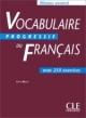 Vocabulaire Progressif du Francais Avanc livre